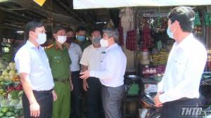 Giám đốc Sở Y tế Tiền Giang kiểm tra công tác phòng chống dịch bệnh Covid-19 tại các huyện phía Đông