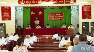 Ứng cử viên Đại biểu Quốc hội tỉnh Tiền Giang tiếp xúc cử tri