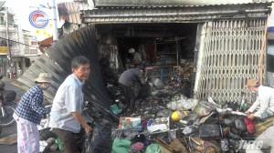 Cháy cửa hàng phụ tùng xe máy Chợ Vĩnh Bình, Gò Công Tây