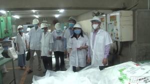 Chủ tịch UBND tỉnh kiểm tra công tác phòng chống dịch tại cụm công nghiệp Trung An