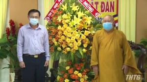 Lãnh đạo tỉnh Tiền Giang chúc mừng Đại Lễ Phật Đản năm 2021