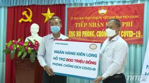 Quỹ phòng chống dịch Covid-19 tỉnh Tiền Giang đã tiếp nhận trên 7,6 tỷ đồng