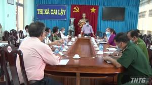 Phó Chủ tịch UBND tỉnh làm việc với lãnh đạo Thị xã Cai Lậy và huyện Cai Lậy về 03 trường hợp nghi nhiễm Covid-19