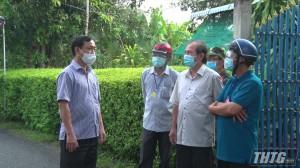 Chủ tịch UBND tỉnh làm việc với Thị xã Cai Lậy về công tác phòng chống dịch Covid-19