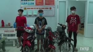 Công an Thị xã Cai Lậy xử lý nhóm thanh niên tụ tập, chạy xe máy nẹt pô, đánh võng