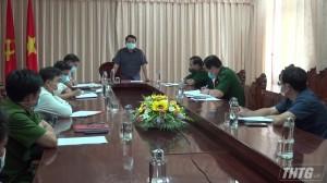 Kiểm tra công tác phòng chống dịch đối với dự án điện gió Tân Phú Đông
