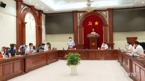 Bộ trưởng Bộ Y tế làm việc với lãnh đạo tỉnh Tiền Giang về công tác phòng chống dịch Covid-19