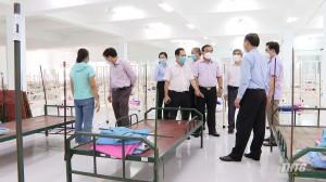 Lãnh đạo tỉnh Tiền Giang kiểm tra Bệnh viện Dã chiến số 5, quy mô 1.000 giường