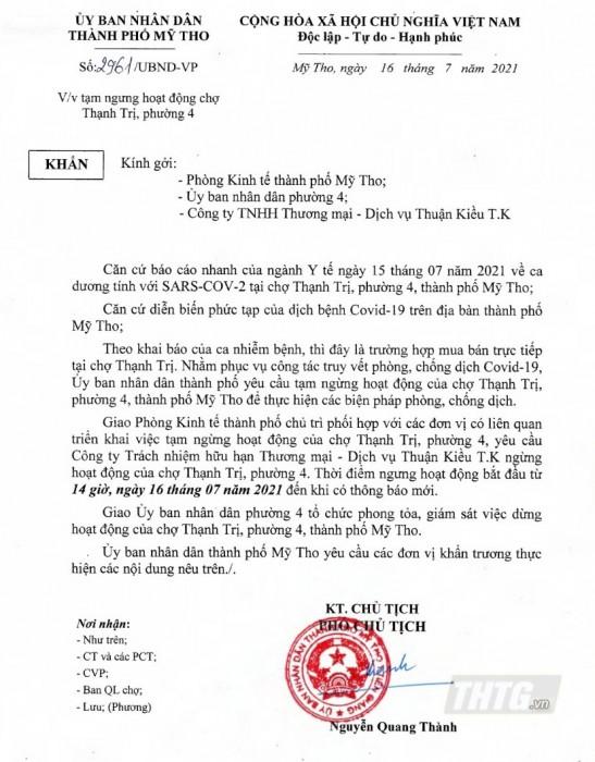 Cho Thanh Tri
