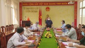 Chủ tịch Uỷ ban MTTQ tỉnh Tiền Giang kiểm tra công tác phòng, chống dịch Covid-19 tại huyện Chợ Gạo