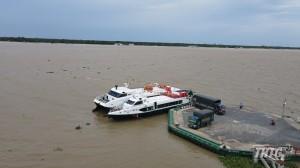"""Tiền Giang mở """"luồng xanh"""" chuyển hàng hóa nông sản bằng tàu cao tốc về thành phố Hồ Chí Minh"""