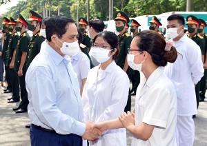 Thủ tướng Phạm Minh Chính gửi thư động viên các lực lượng tuyến đầu phòng, chống dịch