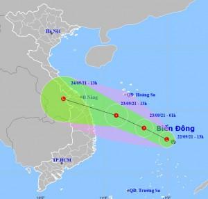 Áp thấp nhiệt đới trên biển Đông sẽ gây mưa lớn ở các tỉnh Trung bộ