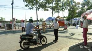 Tp. Mỹ Tho, huyện Chợ Gạo và Châu Thành tiếp tục thực hiện Chỉ thị 16 đến hết ngày 20-9