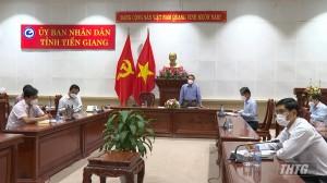 """Lãnh đạo tỉnh Tiền Giang đối thoại với doanh nghiệp thực hiện """"3 tại chỗ"""""""