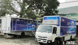 Tiền Giang thực hiện xét nghiệm Covid-19 bằng xe lưu động được Viện Pasteur TP. Hồ Chí Minh tăng cường