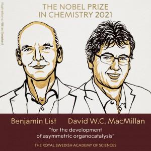 Giải Nobel Hóa học 2021 gọi tên 2 nhà khoa học Đức – Scotland