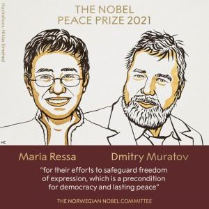 Nobel Hòa bình 2021 trao cho 2 nhà báo