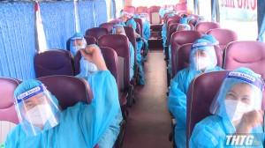 Tiền Giang đón 28 công dân về từ TP.Hồ Chí Minh