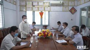 Phó Chủ tịch UBND tỉnh kiểm tra tiến độ xây dựng xã nông thôn mới nâng cao tại huyện Cai Lậy